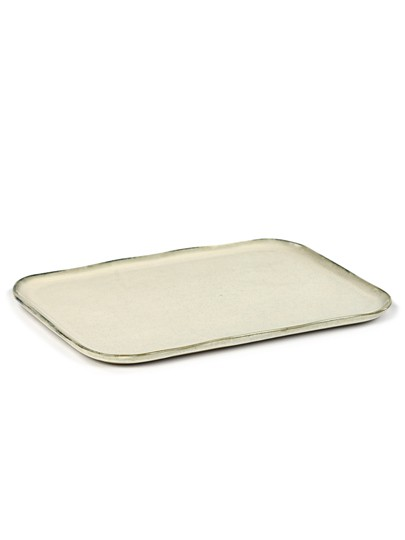 SERAX La Nouvelle Table - Plate rectangular white XL #1