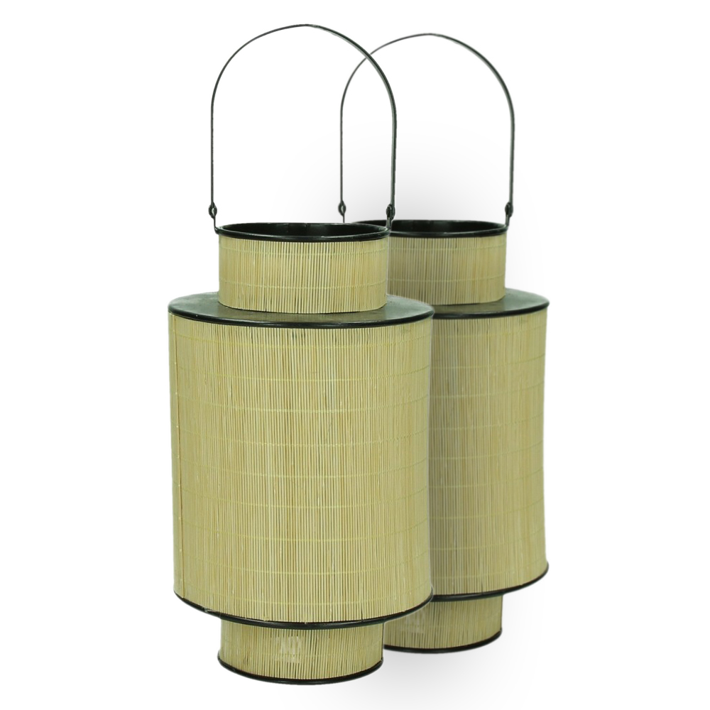 FURNITURE & DECO Lanterna bambu/metal #2