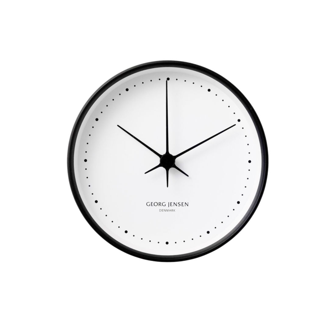 GEORG JENSEN Black/white clock #1