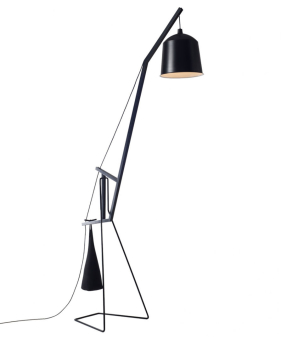FURNITURE & DECO Floor lamp black