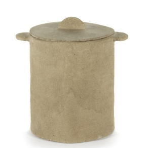 SERAX Earth - Pot and lid brown
