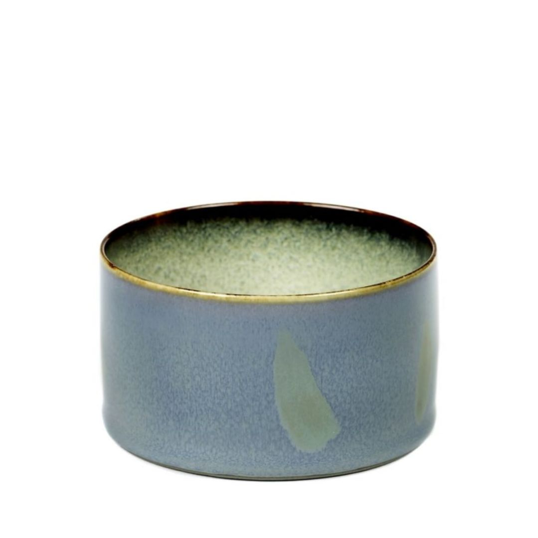 SERAX Terres De Rêves - Goblet cylinder low smoky blue #1