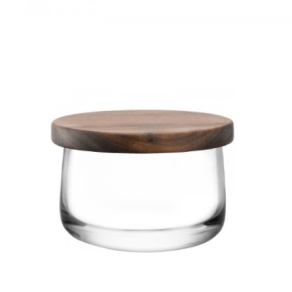LSA City - Bowl and walnut lid 10.5cm