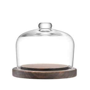 LSA City - Dome and walnut base 13.5cm
