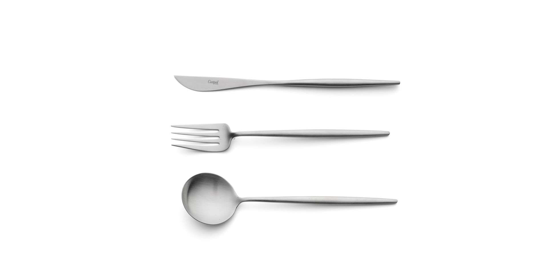Serving Spoon, serving fork and serving knife Cutipol Moon Matte