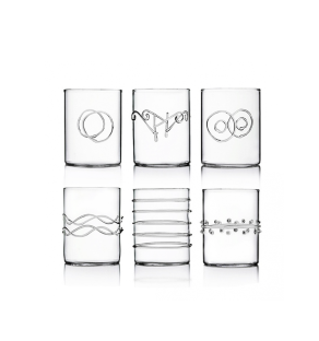 COOK & SHARE Deco - Set of 6 pcs water assorted