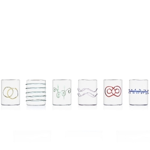 COOK & SHARE Deco - Arlechinno clear 6 pcs water assorted