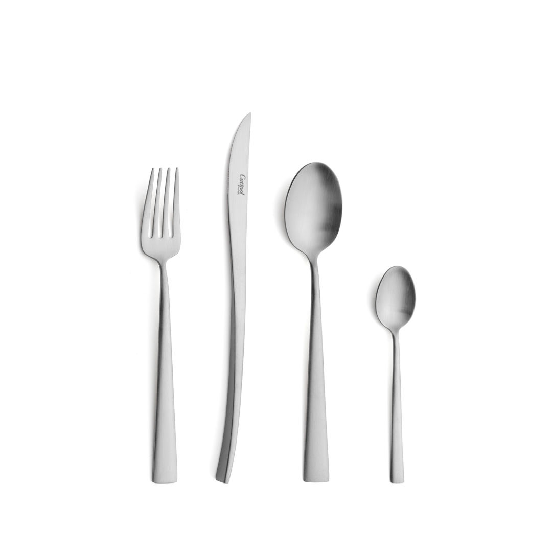 Cutipol Cutlery Duna Matte with dessert fork, dessert knife, dessert spoon and tea-coffee spoon