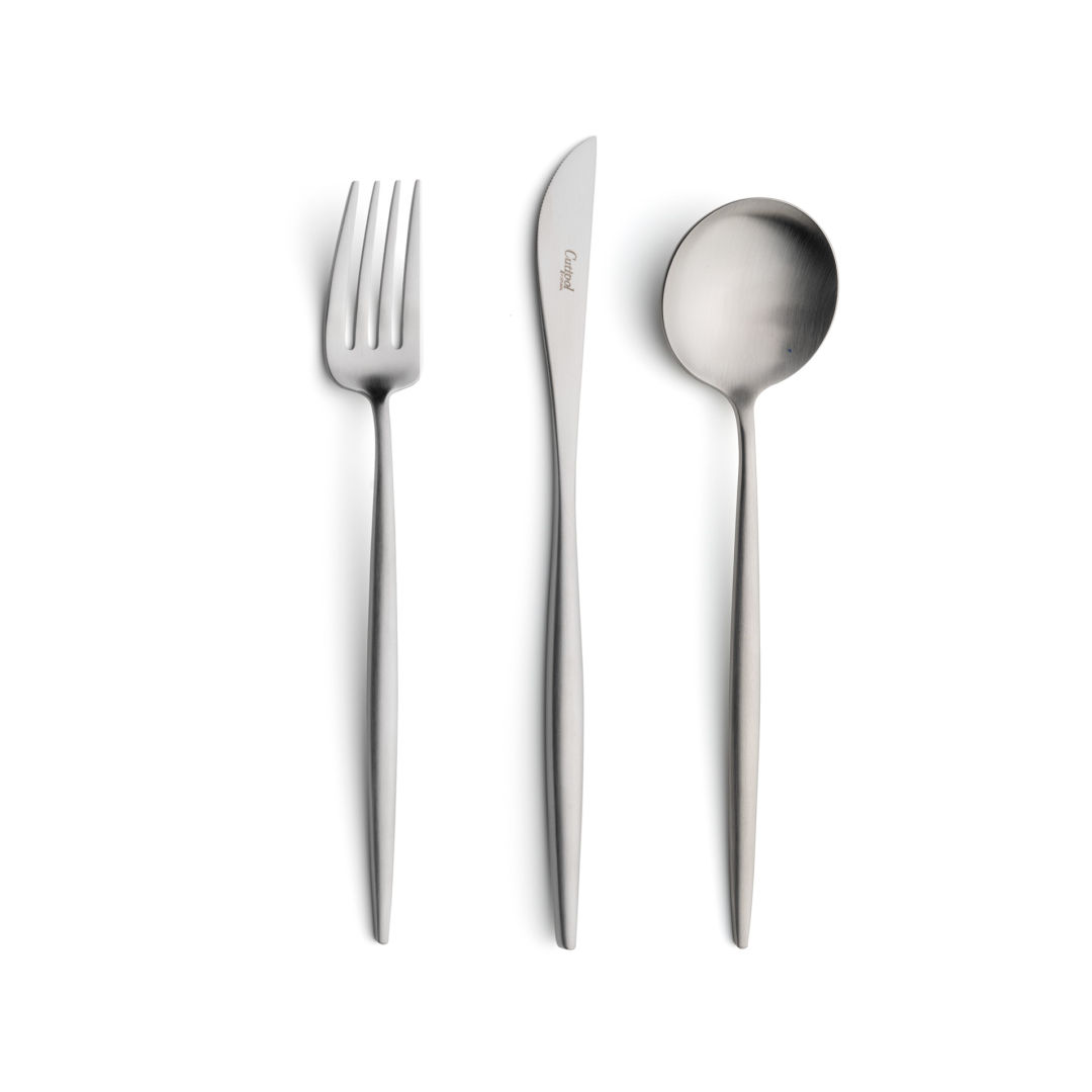 Cutipol Cutlery Moon Matte with dinner fork, dinner knife, table spoon