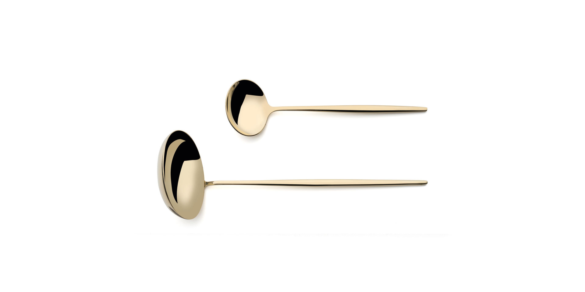 Cutipol Moon Champagne with soup ladle and sauce ladle